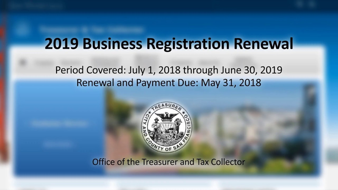 2019 Business Registration Renewal Instructions | Treasurer