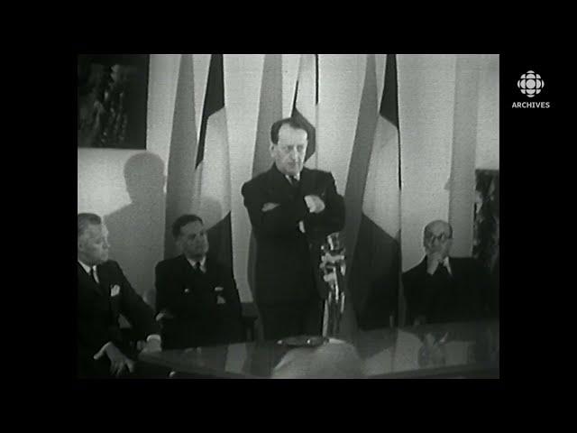 Discours d'André Malraux à la Maison du Québec à Paris en 1961