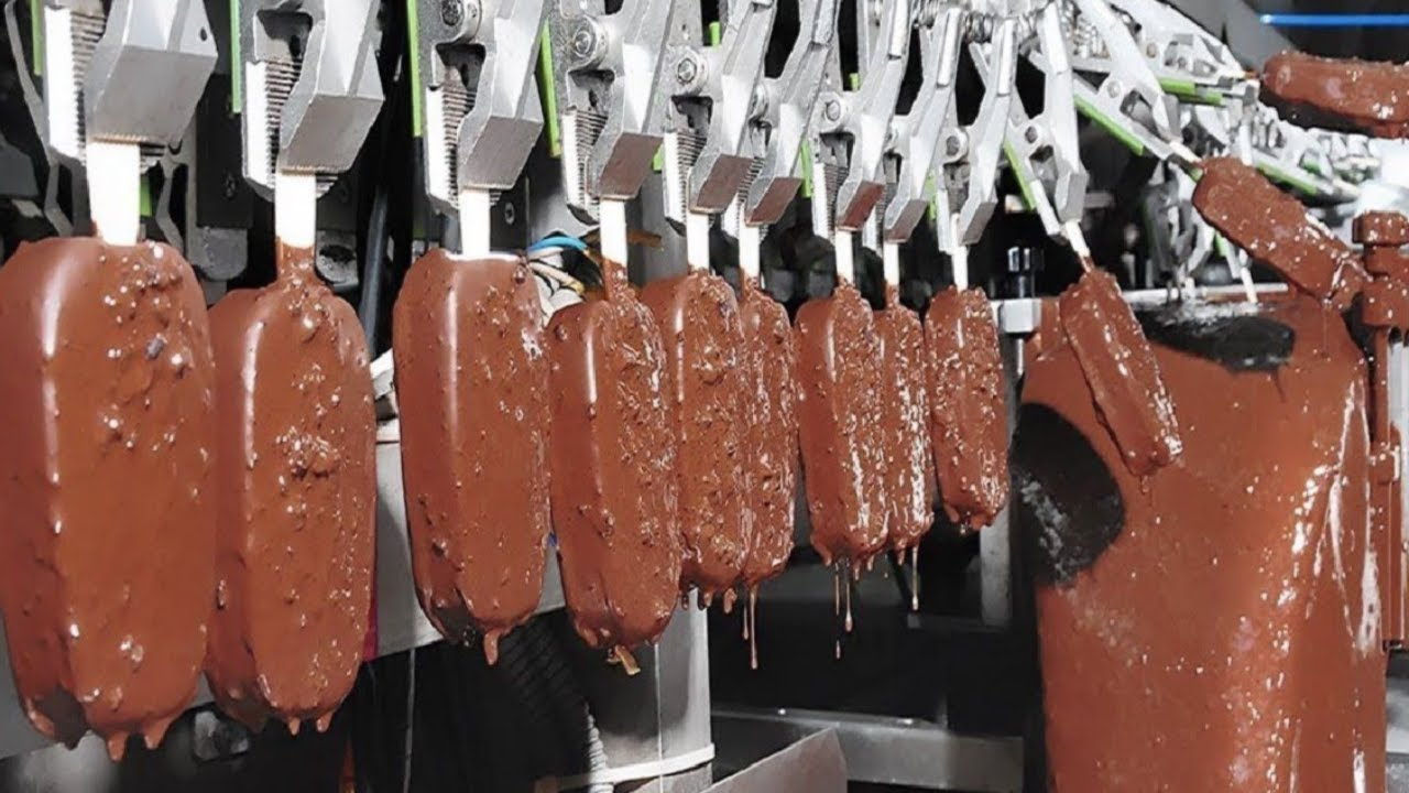 Amazing Ice Cream Factory – Inside Modern Food Process – Technology Machines