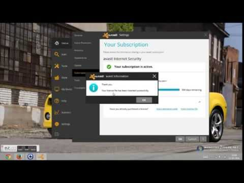 Avast Internet Security  2014 License Key Permanent Activation