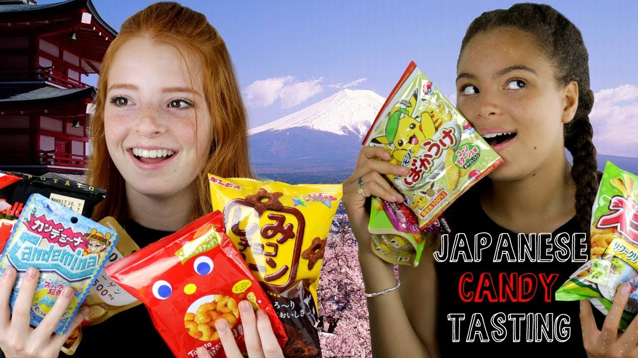 Sweet Japan Snacks Taste Test / YouTubers Tasting Japanese Sweets, Chocolate, Crisps | NiliPOD