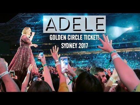 ADELE CONCERT 2017 - GOLDEN CIRCLE TICKET VIEWS - SYDNEY