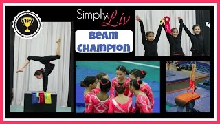 Simply Liv | Beam Champion | Coral Girls | Gymnastics Level 7 Upgraded 2015 | 1st Meet