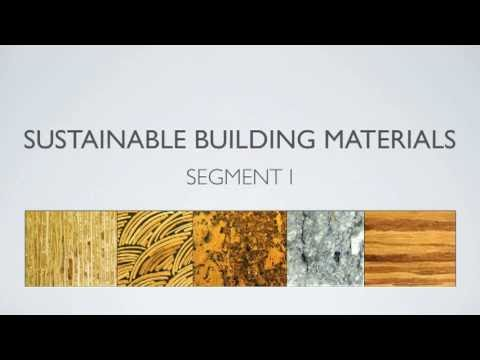 Sustainable building materials segment 1 youtube for Sustainable roofing materials