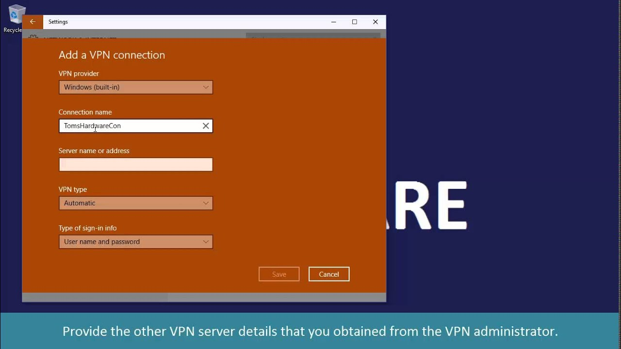 How to set up a VPN connection 82