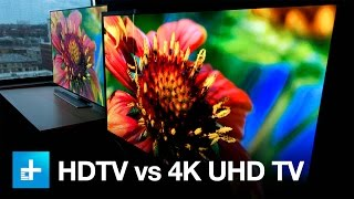 4K UHD TV vs. 1080p HDTV - Side by Side Comparison(Some say Ultra HD 4K TVs are stupid, and they back up those claims with science-based assertions, claiming the human you can't see the difference between ..., 2014-10-31T21:11:37.000Z)