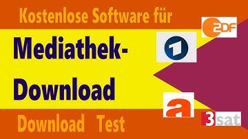 Kostenloser Mediathek Download von ARD, ZDF, ARTE, 3Sat mit Mediathekview (Test)