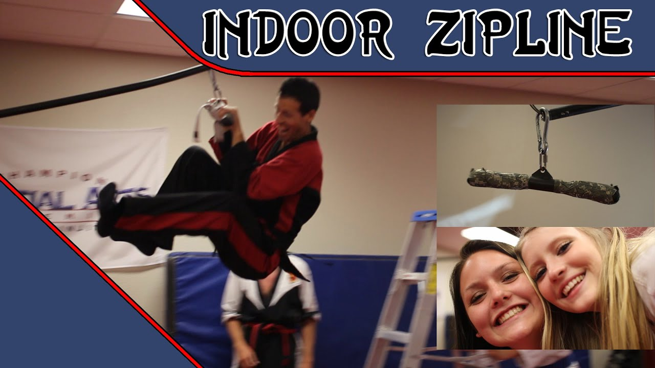 how to make an indoor zipline diy zip line zip pole sensei