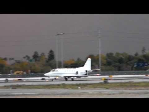 RARE North American Sabreliner 65 Landing at San Jose International Airport (KSJC)