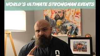 World' Ultimate Strongman Announce Events (re-uploaded with better sound!)