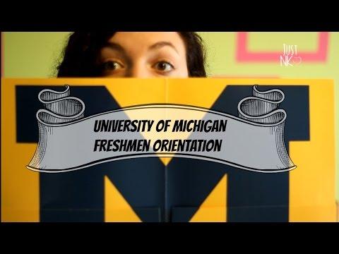 University of Michigan Freshmen Orientation