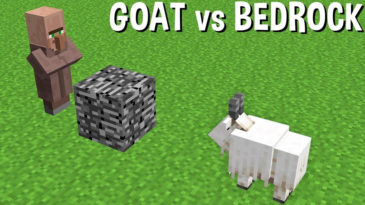CAN a GOAT BREAK BEDROCK in Minecraft ? GOAT VS BEDROCK !!!