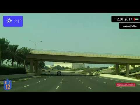 Driving from Dubai to Abu Dhabi (UAE) 12.01.2017 Timelapse x4