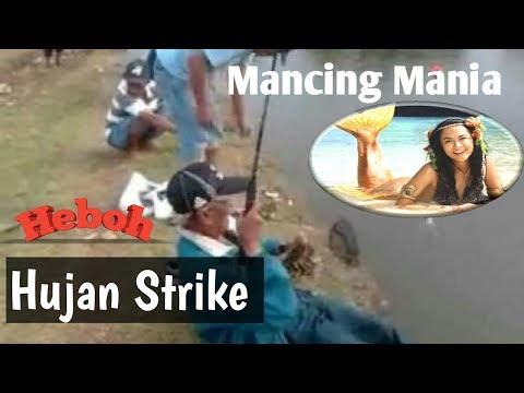 Heboh ! Mancing mania-Hujan strike di kolam pancing Tambak Gede