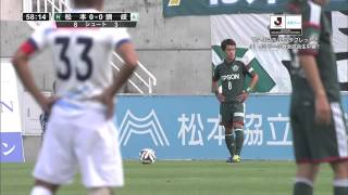 Jリーグディビジョン2第32節松本山雅戦FC戦のハイライト.