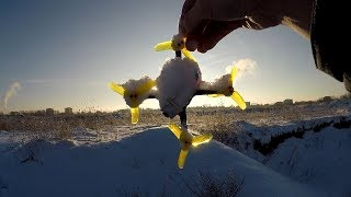 Зимние Полеты На Квадрокоптере Kingkong/Ldarc Fly Egg 130
