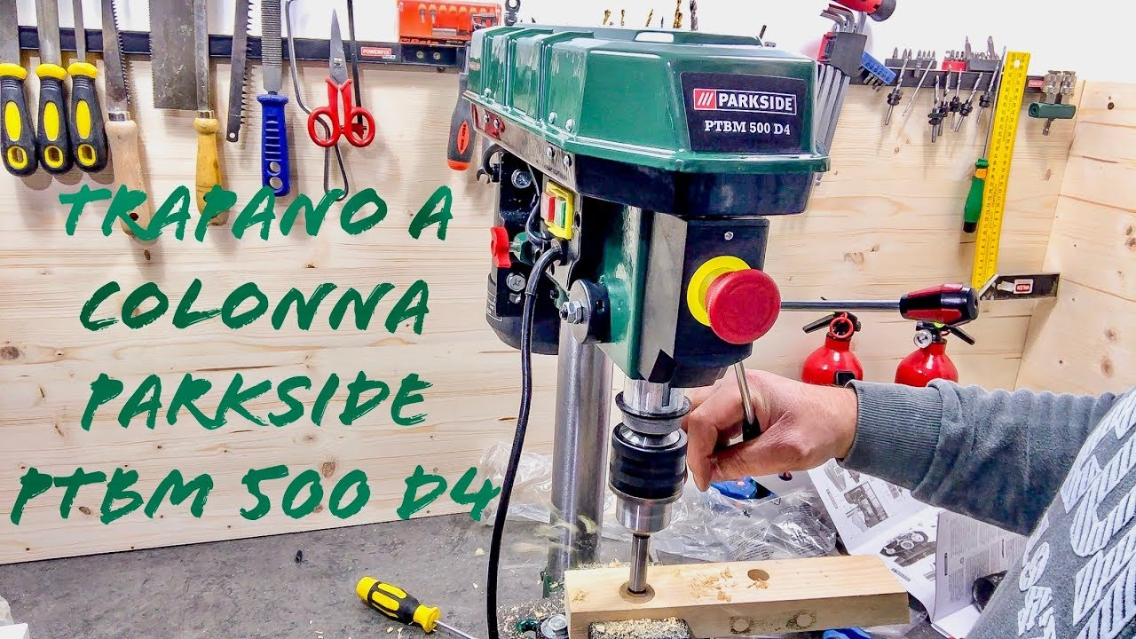 Nuovo Trapano A Colonna Parkside Recensione E Unboxing Ptbm 500 D4 Lidl