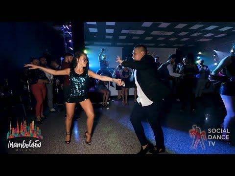 Karel Flores & Brandon Ayala - salsa social dancing   Mamboland Milano 2018
