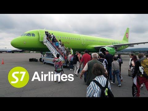 Перелет Иркутск - Москва на Airbus A321 S7 Airlines