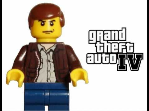 GTA 4 Theme Song with custom made lego wallpaper