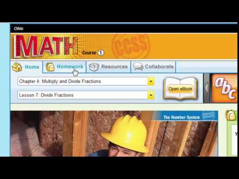How Students Can Access Digital Content in Glencoe Math
