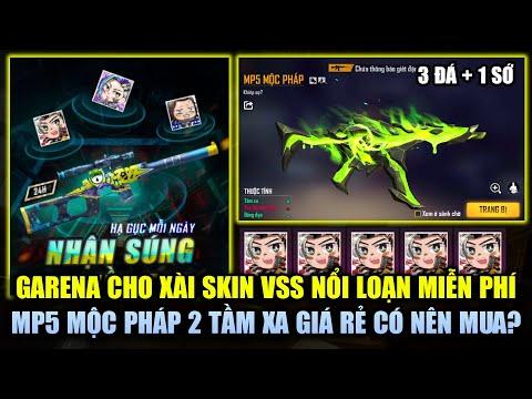 Free Fire | Garena Cho Xài Skin VSS Nổi Loạn FREE - MP5 Mộc Pháp 2 Tầm Xa Giá Rẻ Có Nên Mua?