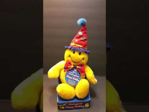 Dan Dee Wiggle Giggle Smiley Face Singing Plush Happy Birthday