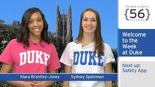 New Safety App; Women's Health in Haiti: The Week at Duke {in 60 Seconds}