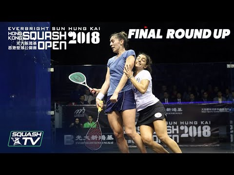 Squash: King v El Welily - Women's Final Roundup - Hong Kong Open 2018