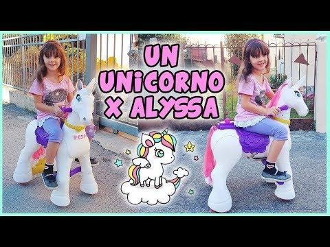 Un unicorno per Alyssa 🦄 Cammina da solo!!