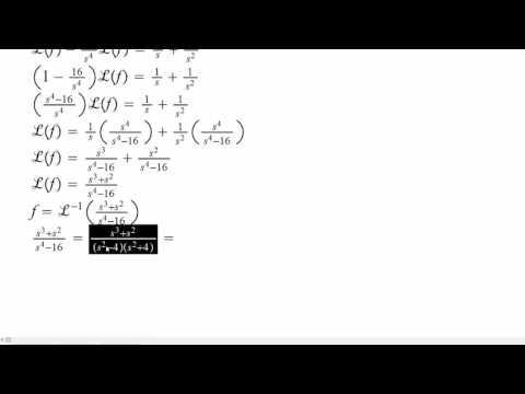 Integral Equation Laplace Transform