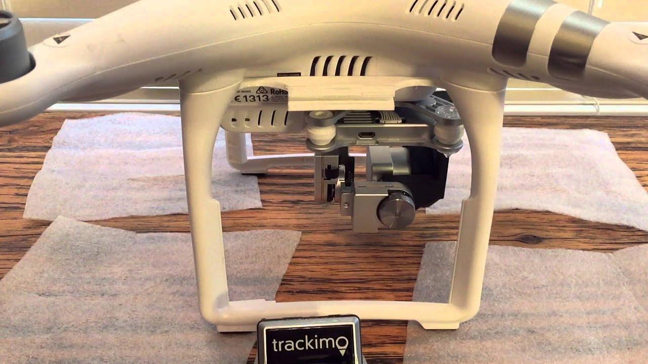 Trackimo Holder Install on Phantom 3 Advanced Drone - YouTube