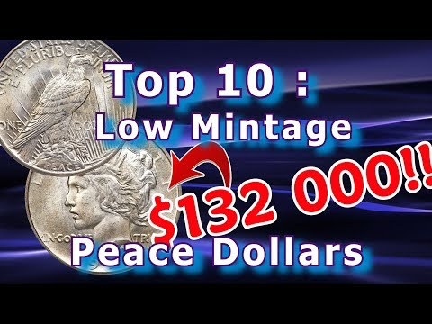 Top 10 Low Mintage Peace Dollar Coins Worth Money