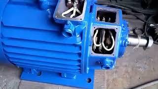 Крановый электродвигатель МТН612-10 60кВт. 575об/мин испытание холостой ход