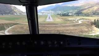 Flying into a blustery but beautiful Queenstown Airport, New Zealand. A320 Aircraft thumbnail