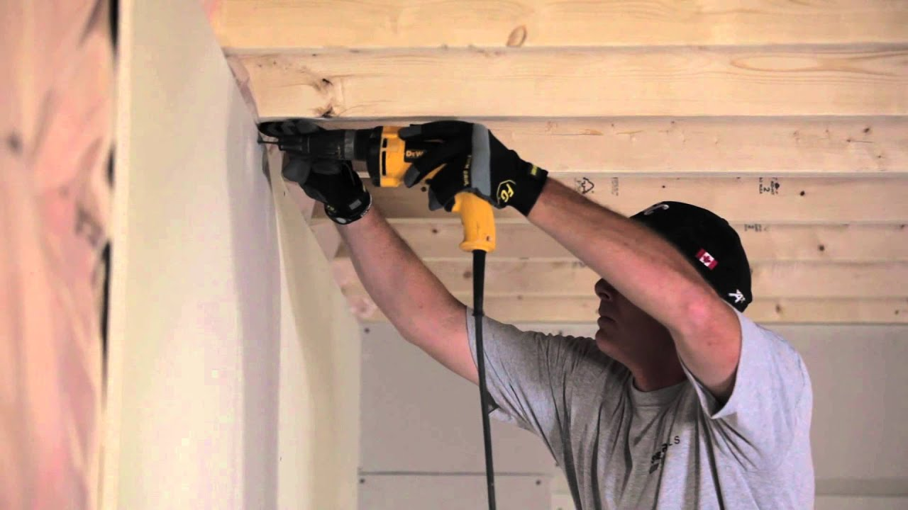 how to install drywall sheetrock cgc inc youtube. Black Bedroom Furniture Sets. Home Design Ideas