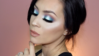 Teal halo makeup tutorial