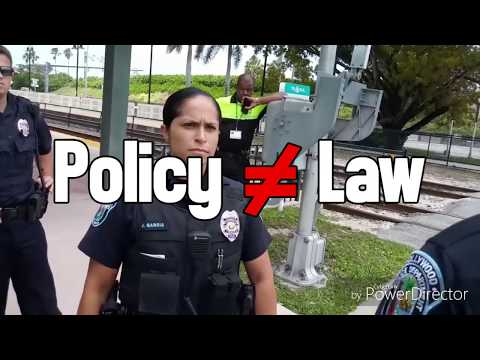 OFFICERS ATTEMPT TO ENFORCE POLICY AS LAW