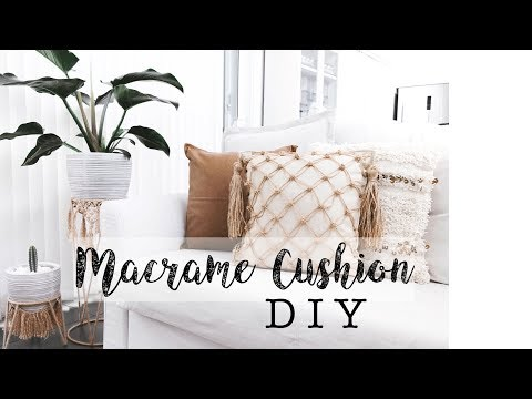 Macrame Cushion Cover Tutorial | Macrame DIY | Kmart Hack Australia | Cushion Hack