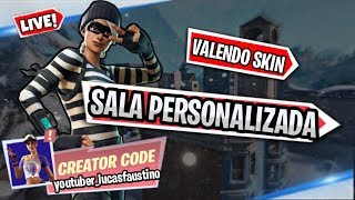 CUSTOM ROOM VALENDO SKIN FORTNITE PLAYING WITH SUBSCRIBERS #LIVE 233