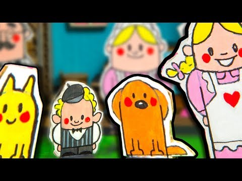 How to Make the Pets & People in the Cardboard House – Part 6/6 | DIY Houses on Box Yourself