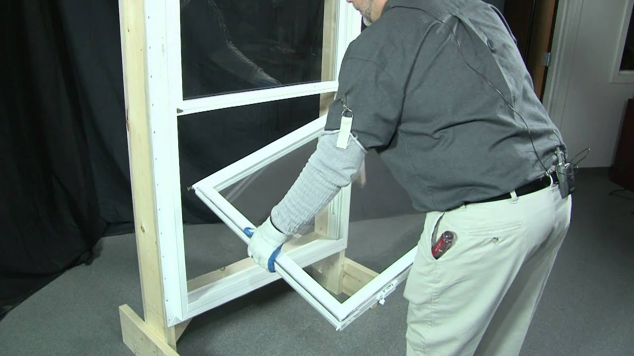 Bottom Hung Windows : How to remove and replace a bottom top sash youtube