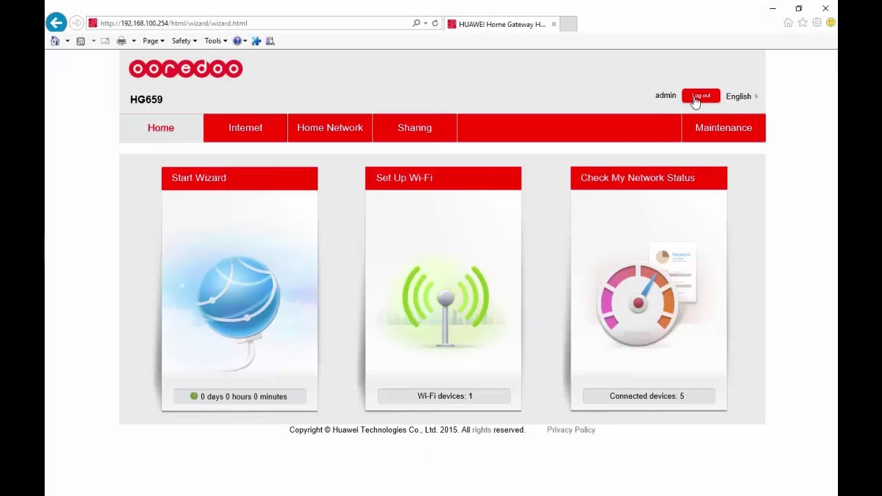 Learn how to change Qatar Ooredoo Qtel Huawei HG659 WIFI Username & Password