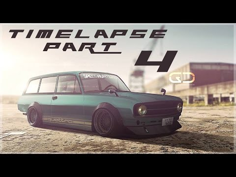 Digital Car Tuning Timelapse By Glacius | Audi F103 | PART 4