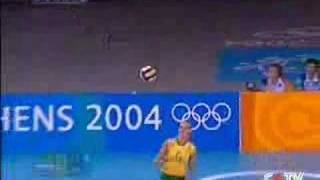 BRAZIL VS RUSSIA SEMIFINALS ATHENS 2004 VOLLEYBALL 5TH SET