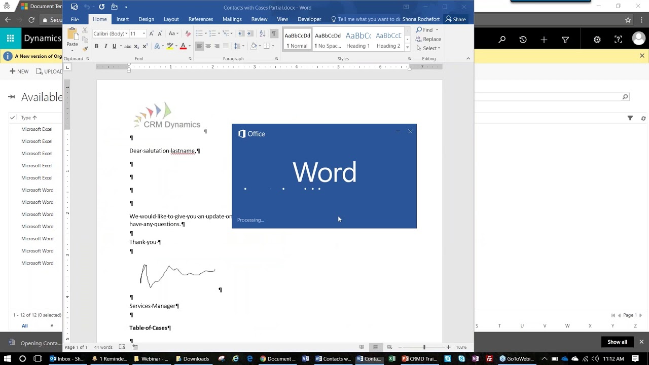 Using Word And Excel Templates In Dynamics 365 Youtube