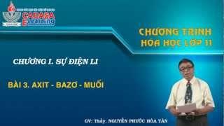Bài giảng hóa 11 - Sự điện ly - Axit - Bazo - Muối