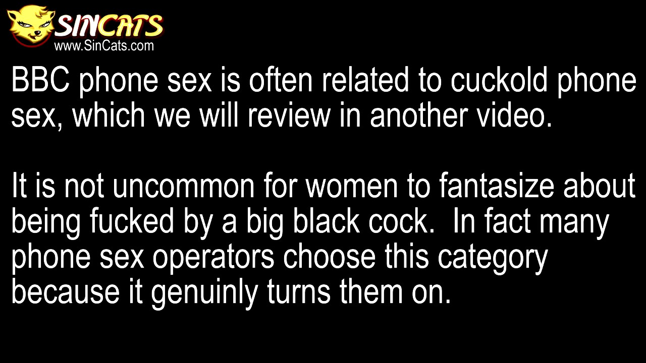 SINCats.com BBC Phone Sex Educational Video