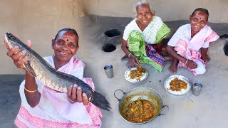 AAM SHOL Recipe by santali Tribe grandmothers  How tribe people cooking mango kashundi shol curry