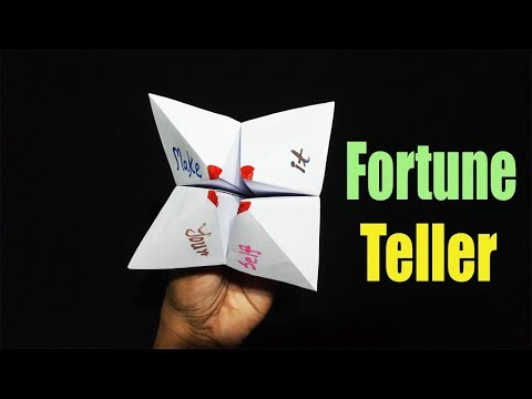 How To Make A Fortune Teller With Out Of Paper | Origami Paper Craft | Baby Craft